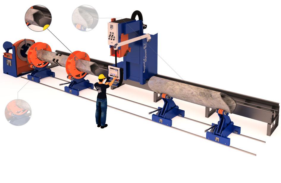 Máquina de corte de tubos cuadrados | MPC - HGG 3D Profiling