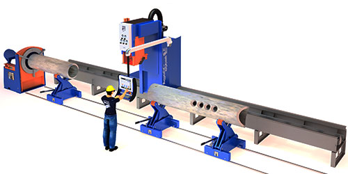 Pipe cutting machine SPC 500–1200 PT overview