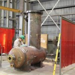 Cut pressure vessels by hand; room for errors is high