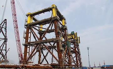 Jackets, plateformes autoélévatrices (Jack-Ups) et structures sous-marines