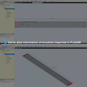 Curve data information is imported to ProCAM