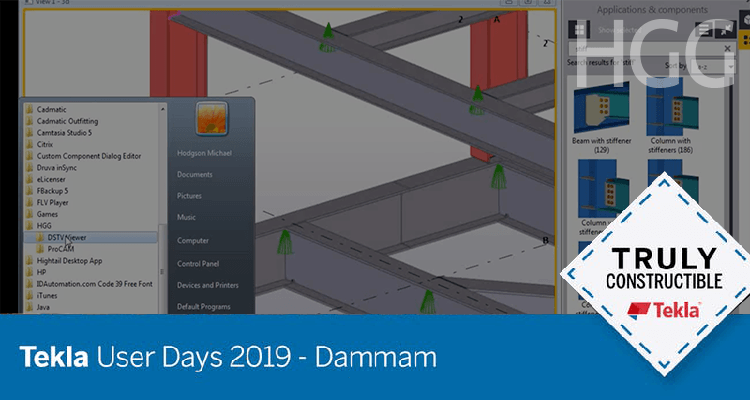 Importing Trimble Tekla User Days 2019 Dammam