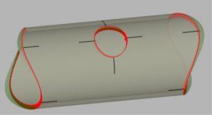 Pipe profile with marklines